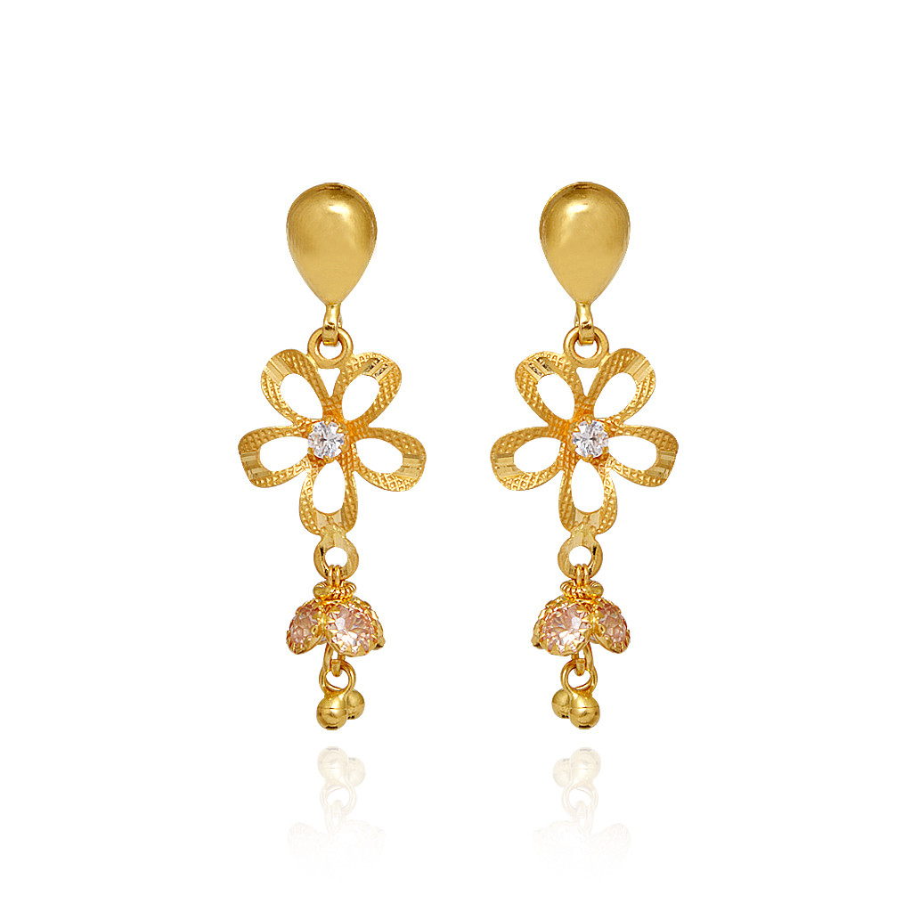 New Fashion Women Elegant Gold Earrings