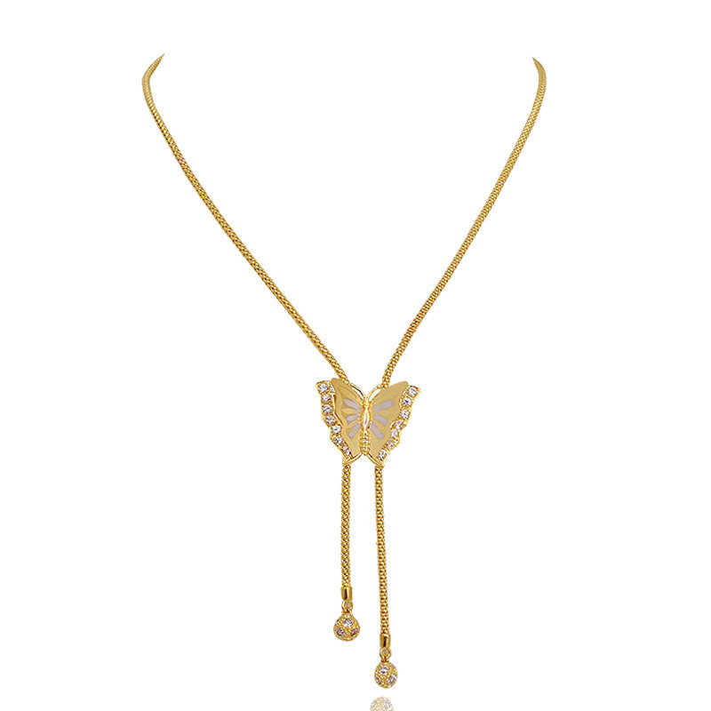 Beautiful Butterfly Gold Necklace
