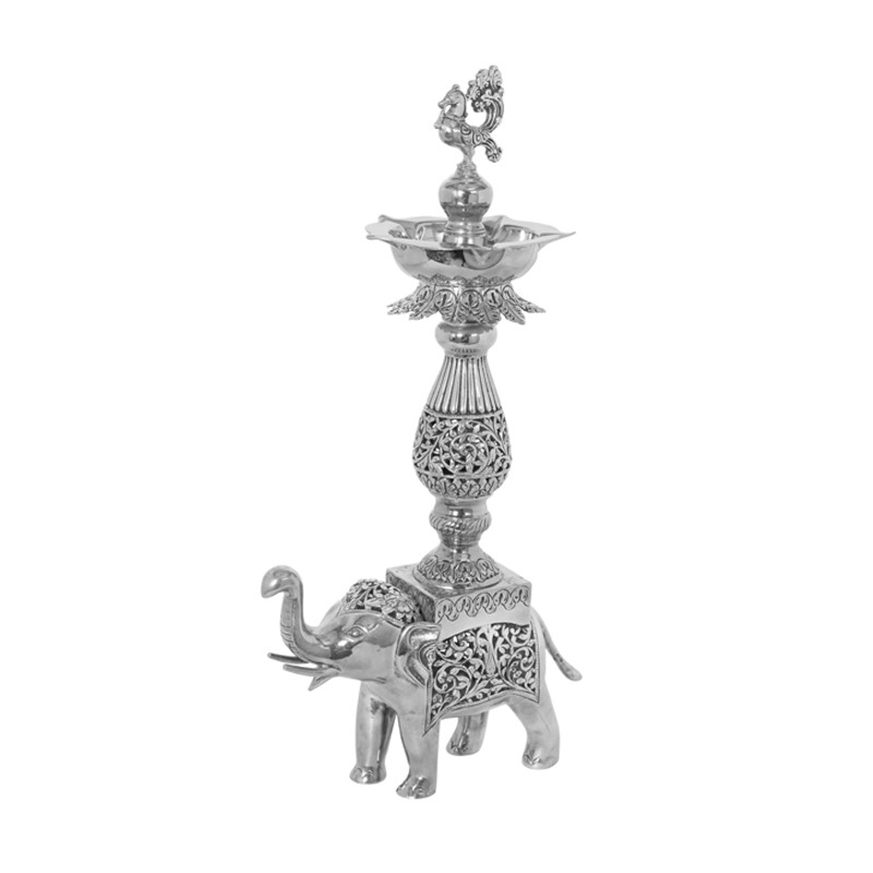 Elephant Diya With Special Antique Finish