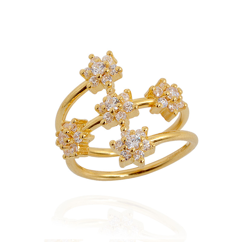 Gold Plated Diamond Engagement Rings