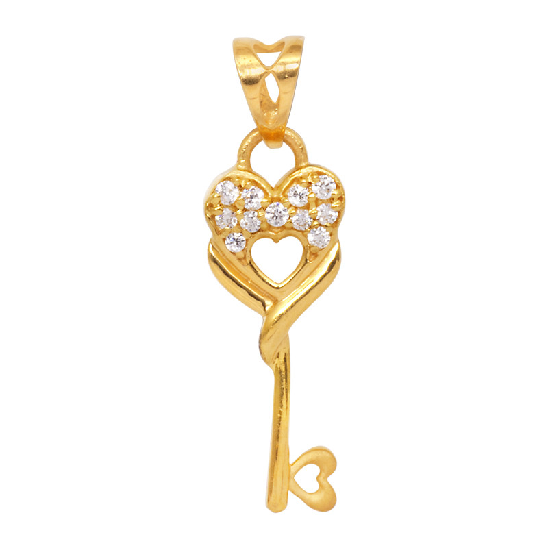 Key to any Heart 22KT Gold Pendant