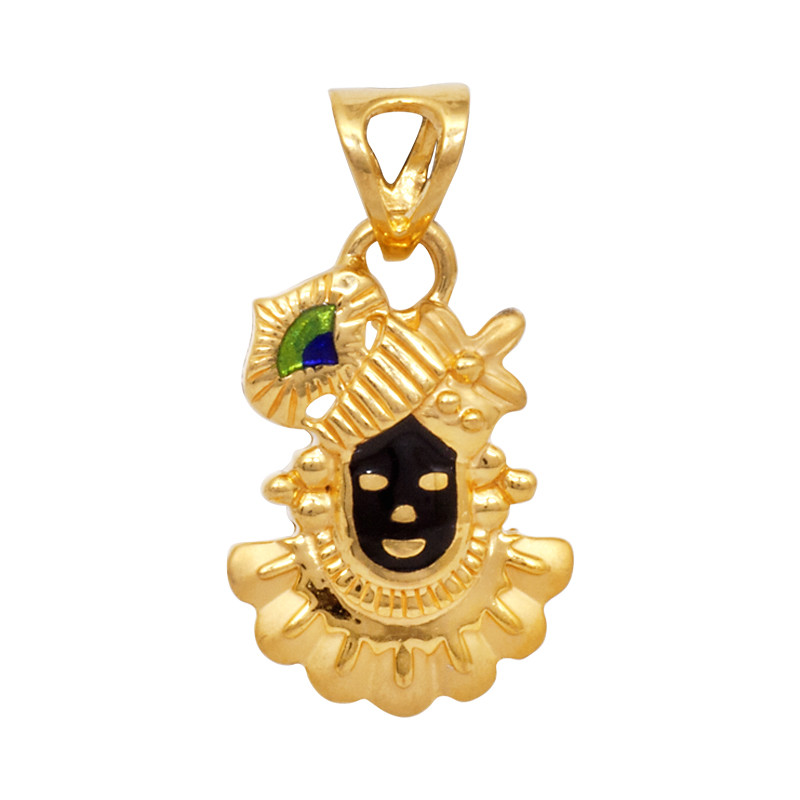 Lord Shrinathji 22KT Gold Pendant