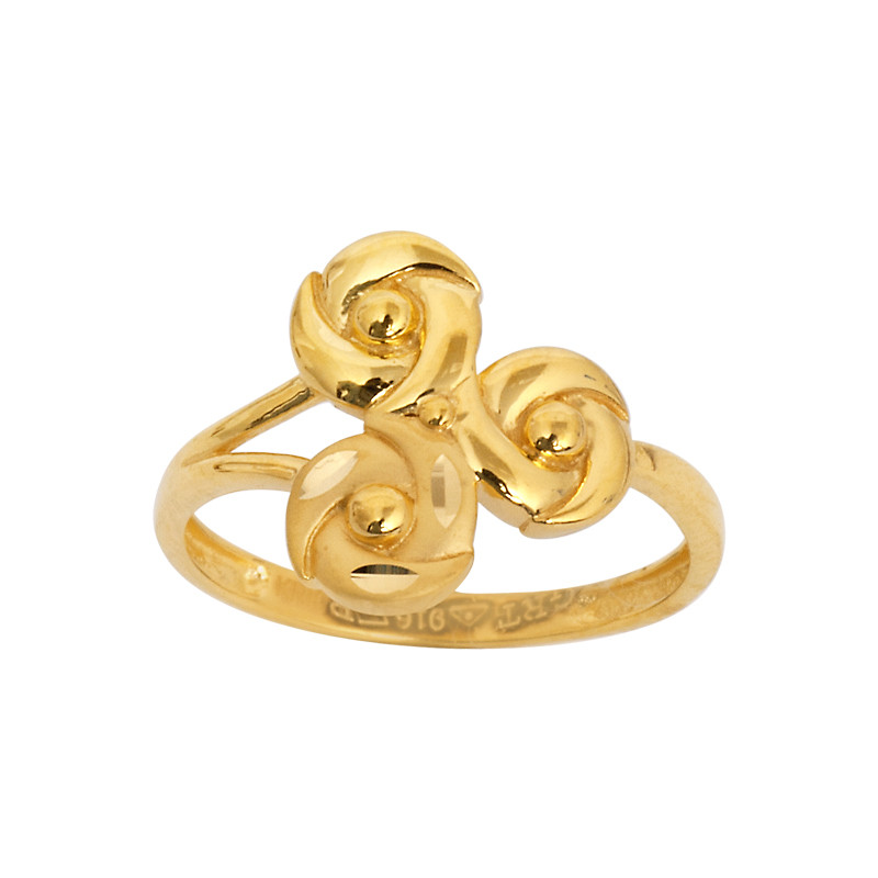 Three Roses 22KT Gold Ring