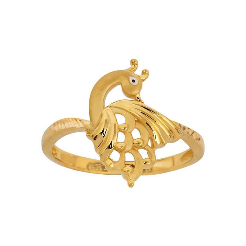 22Kt Gold Peacock Ring