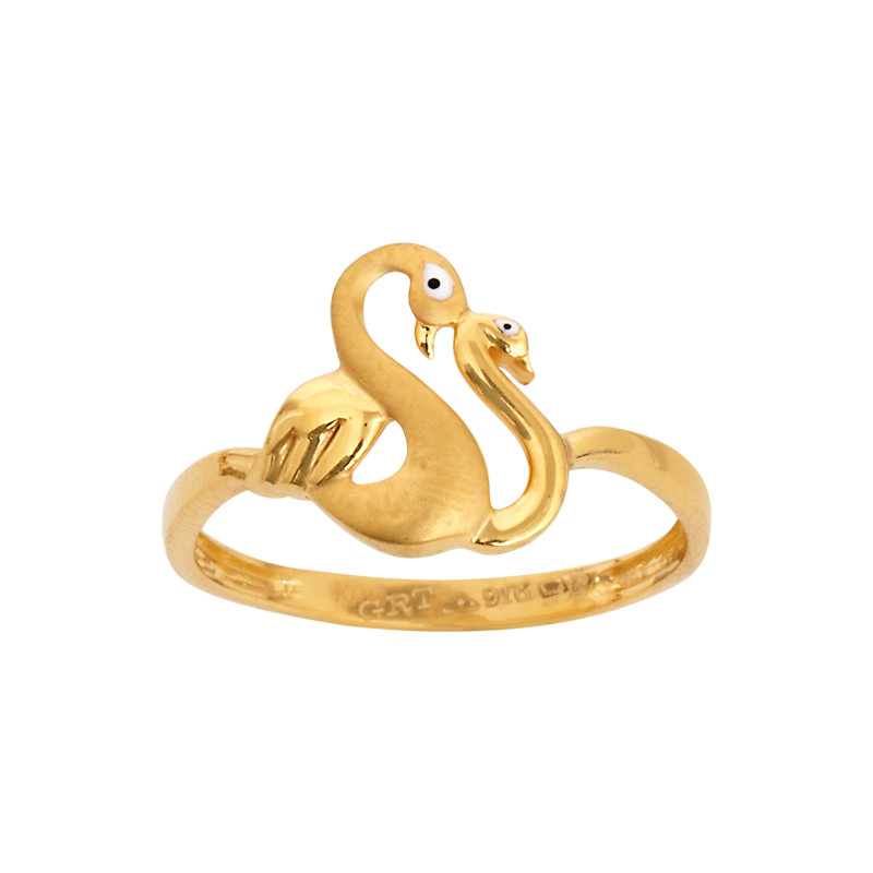 Love Swan 22KT Gold Ring