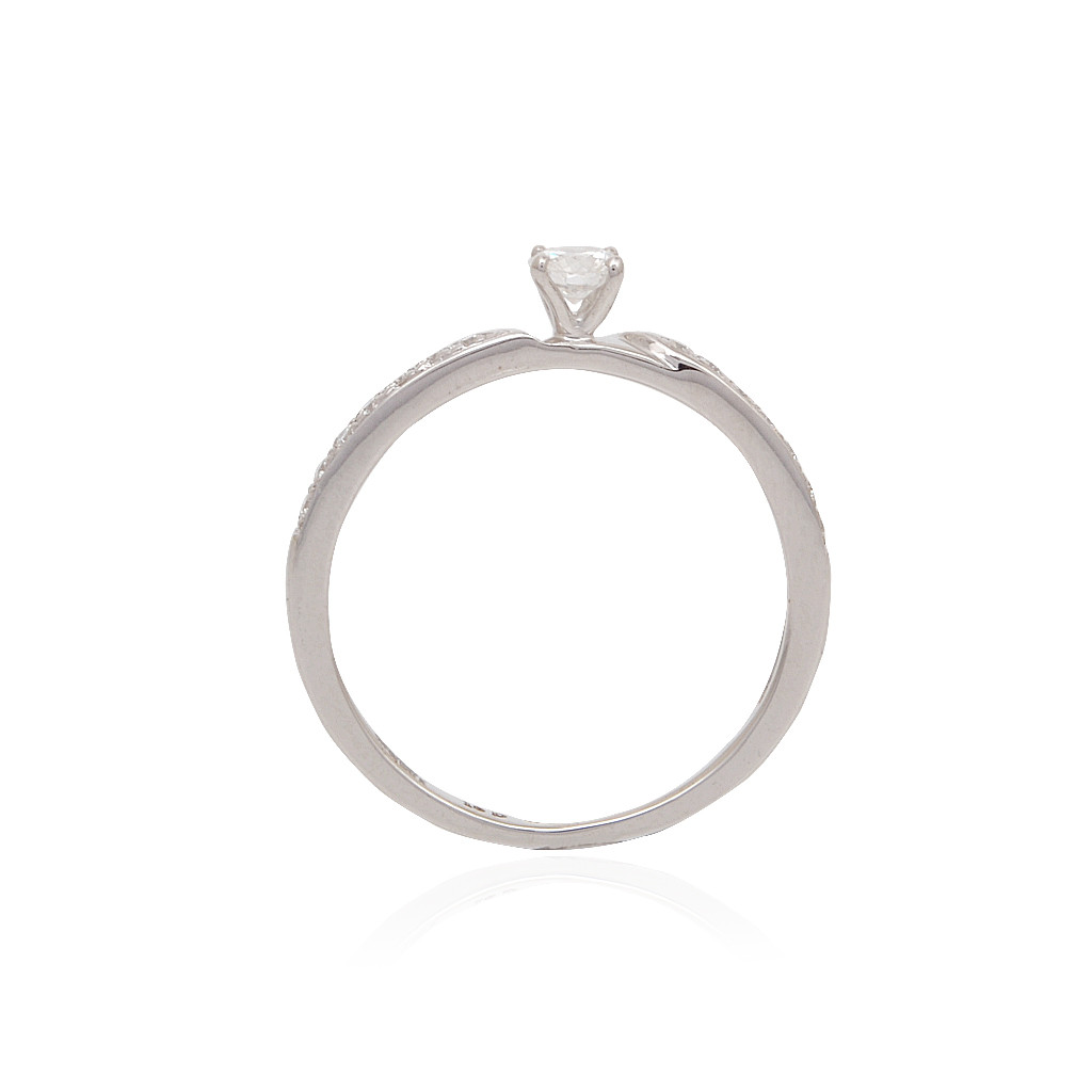 Round Diamond Ring In Pave Setting