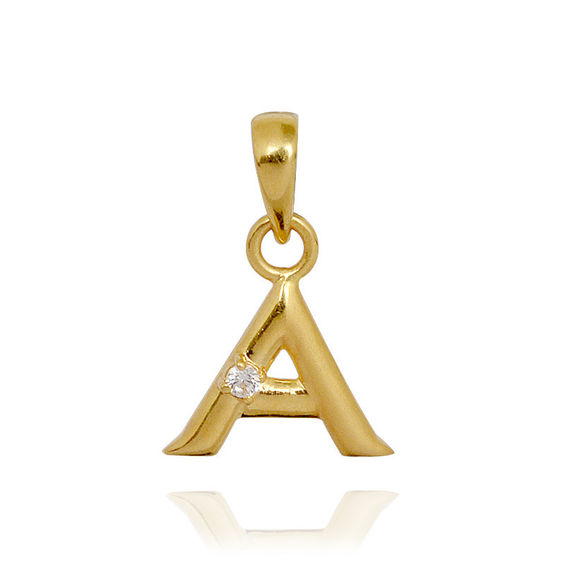 Initial A Gold Pendant