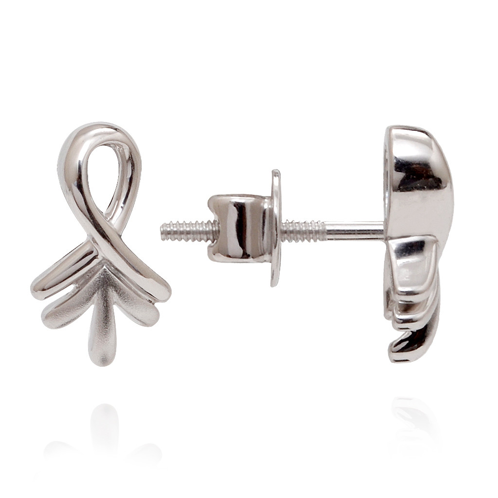 The Ankh Leaf Platinum Earring