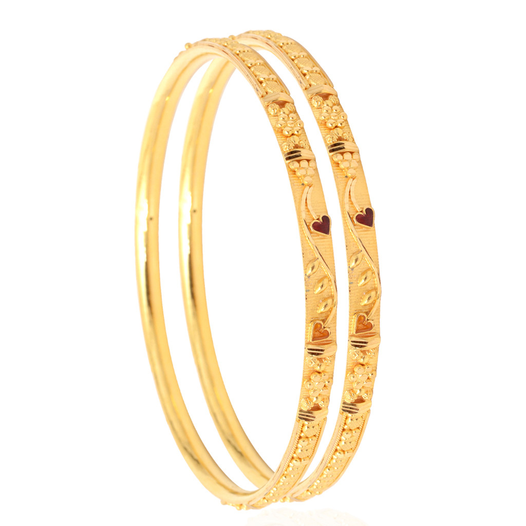 DailyWear Floral Gold Bangles