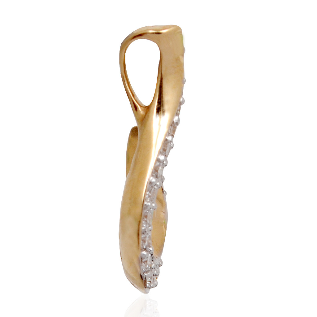 Sparkling Hook Shape Diamond Pendant