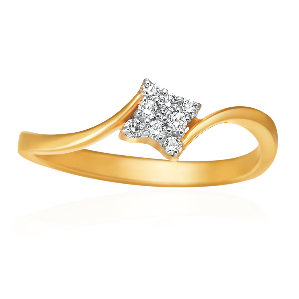 Trendy Rhombus Shape Diamond Ring