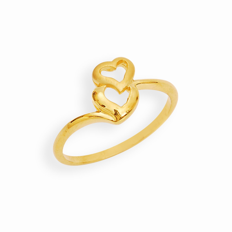 Stylus Yellow Gold Love Heart Casting Ring
