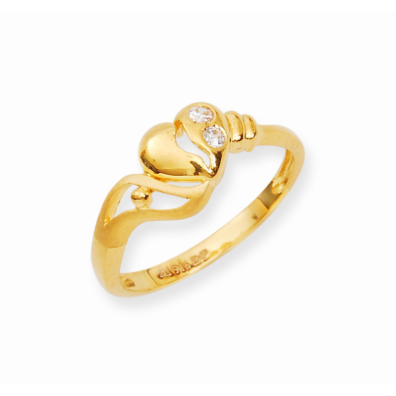 Rings Heart Stretch Yellow Gold Ring Grt Jewellers