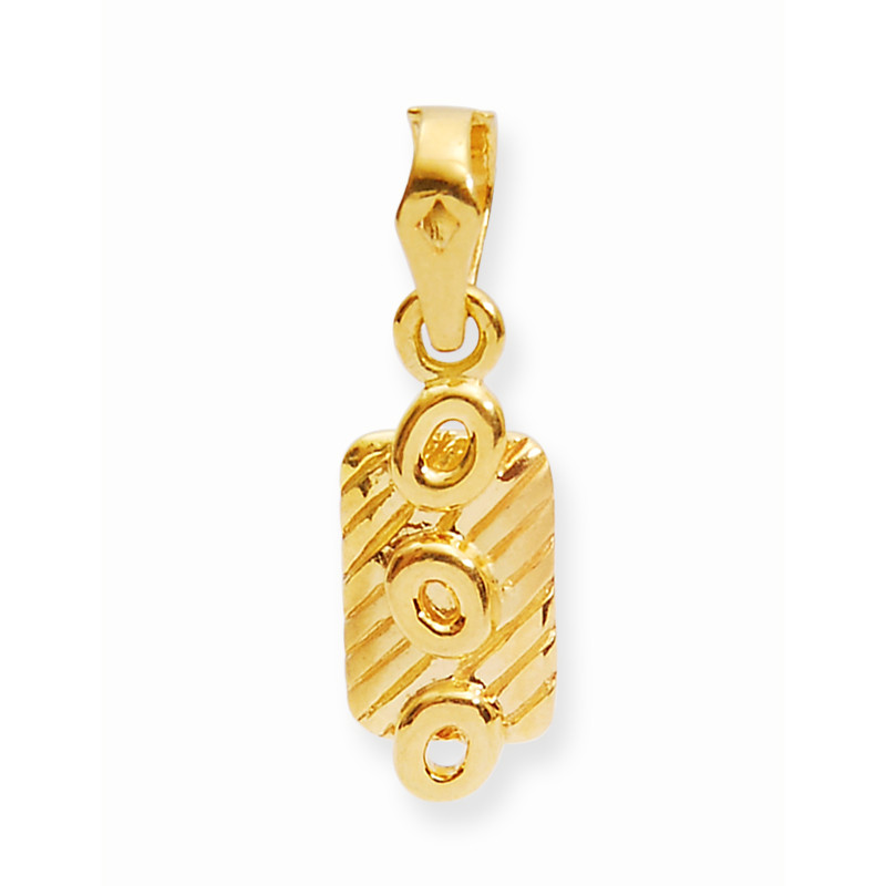 Yellow Gold Fancy Square Tag Locket