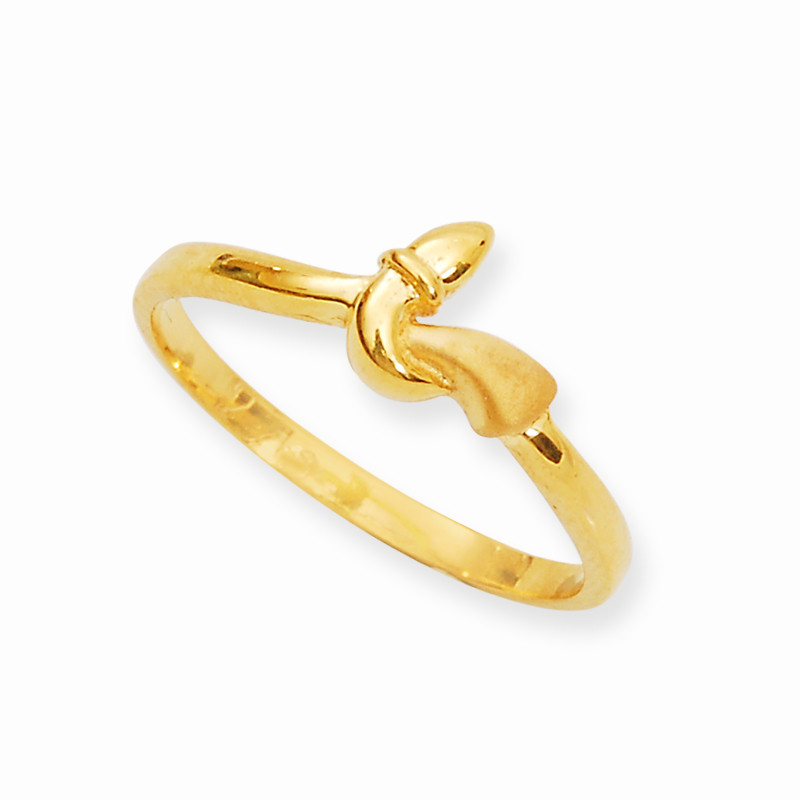 Gold Fashion Snake Curled Ring
