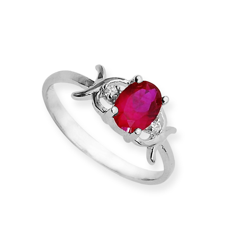 Red Amber Sterling Silver Ring