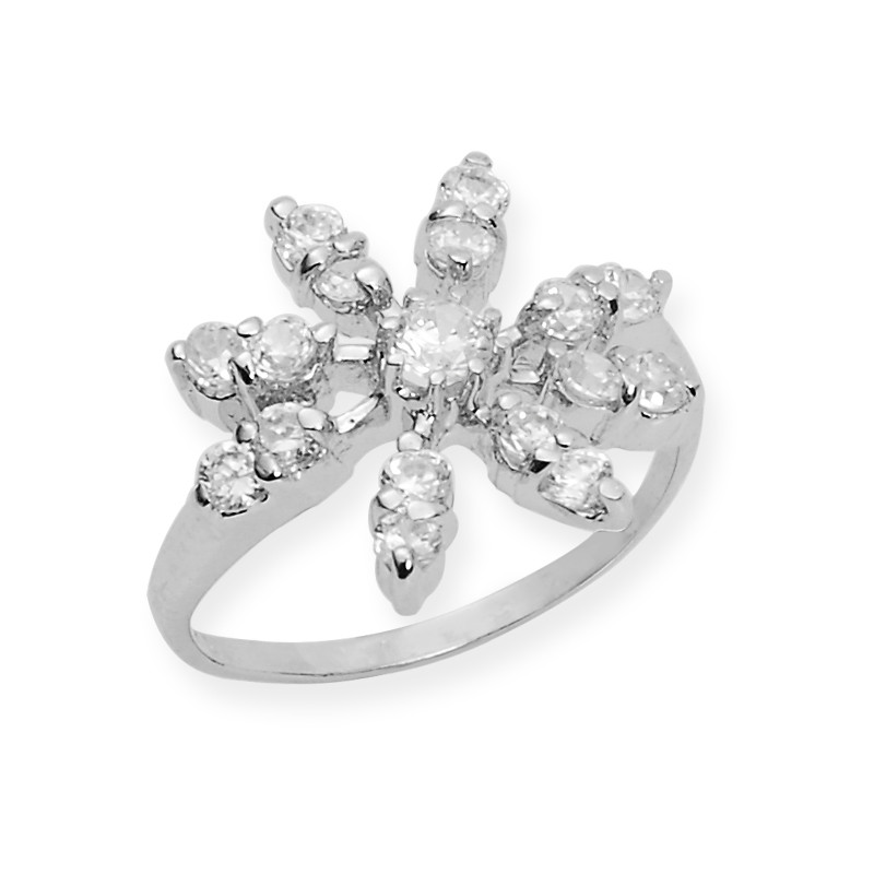 Signity Star Cubic Zirconia Sterling Silver Ring