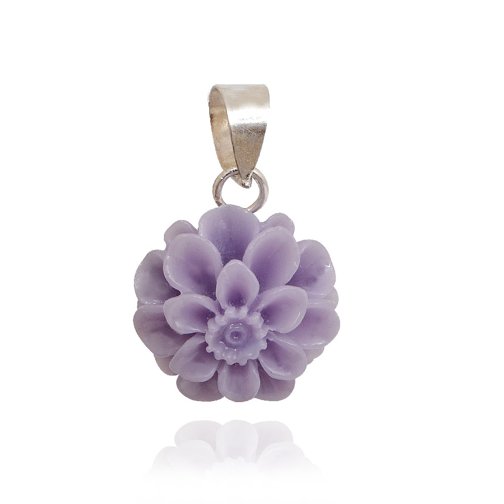 Plum Color Silver Pendant