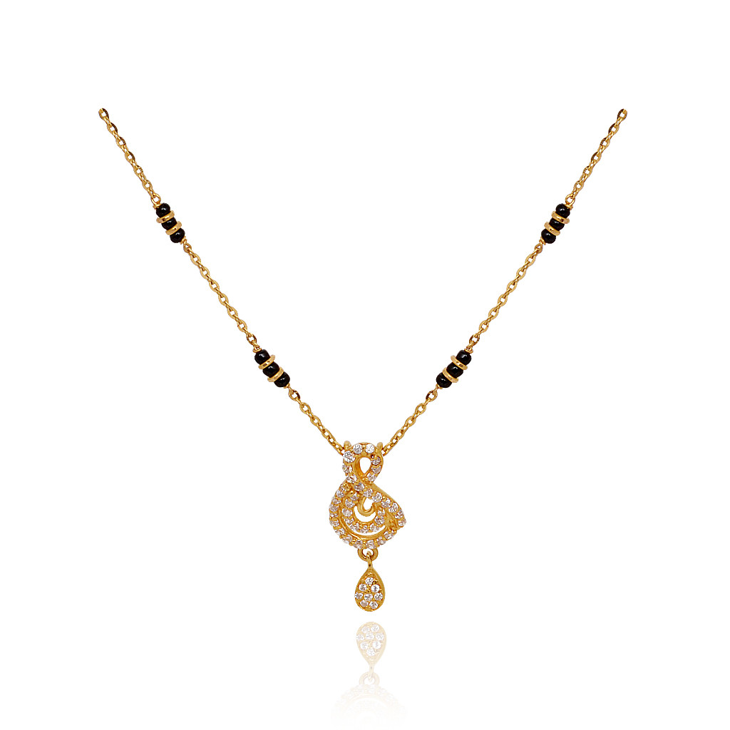 chains fancy drop in 3 black bead row gold chain