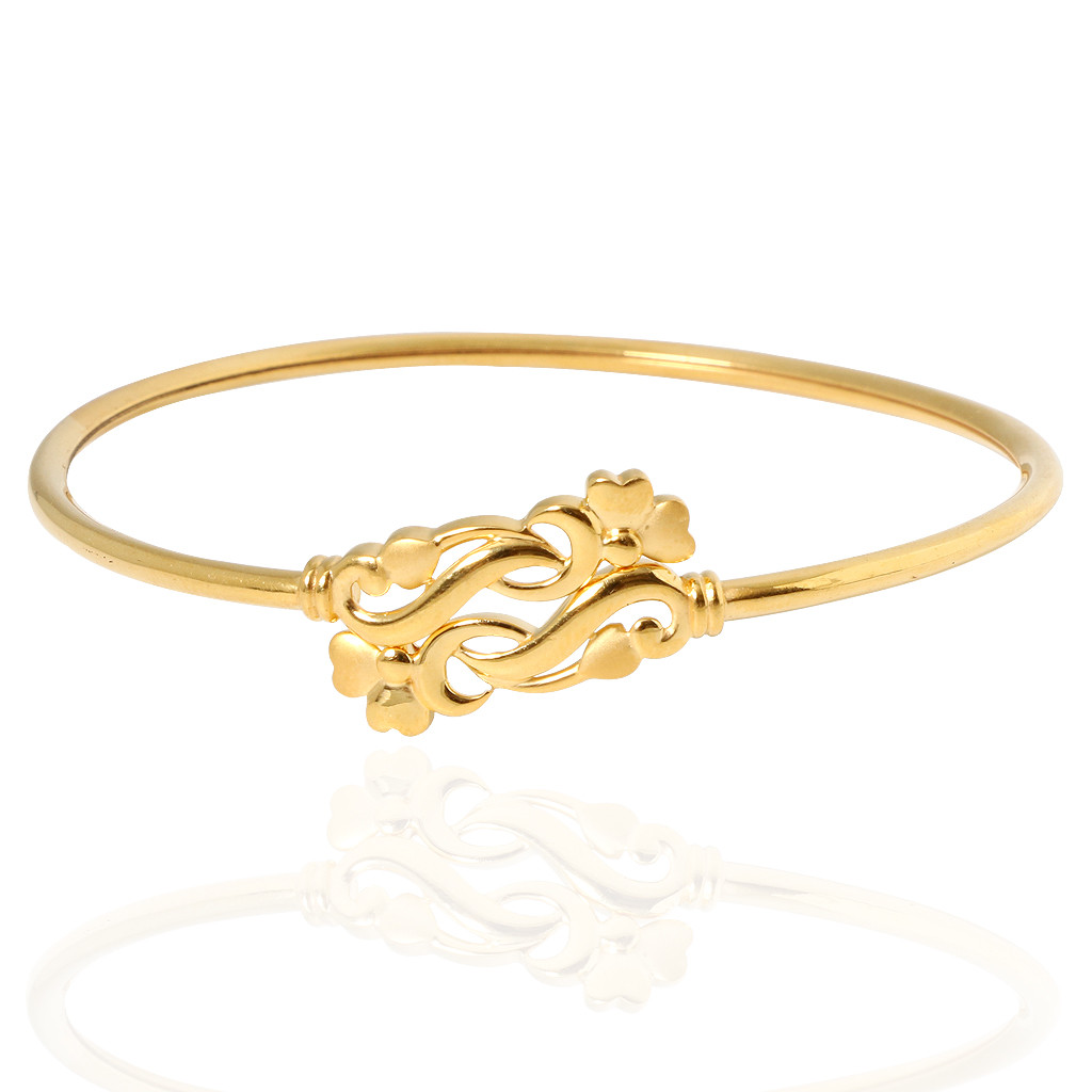 The Laura Floral Gold Bracelet