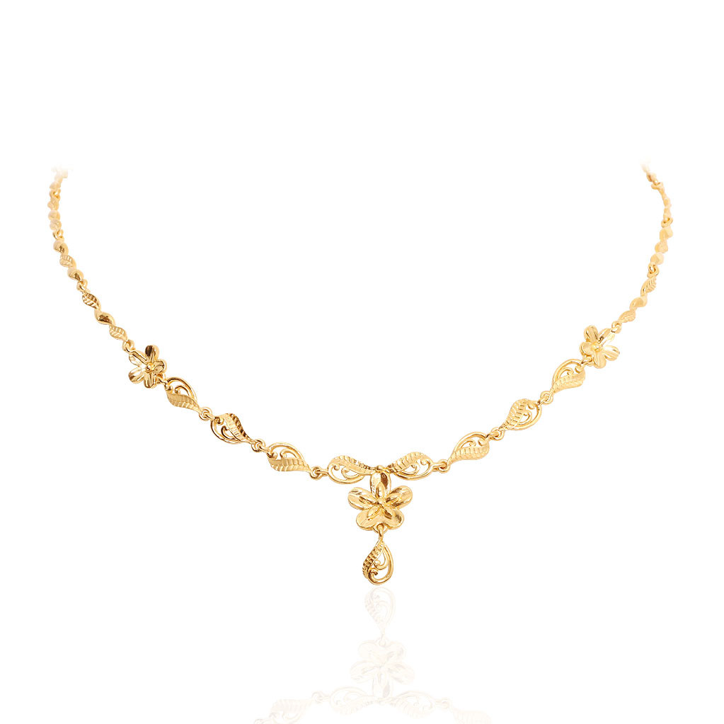 Oriana - The Light Weight Jewellery | Floral Slim Gold ...