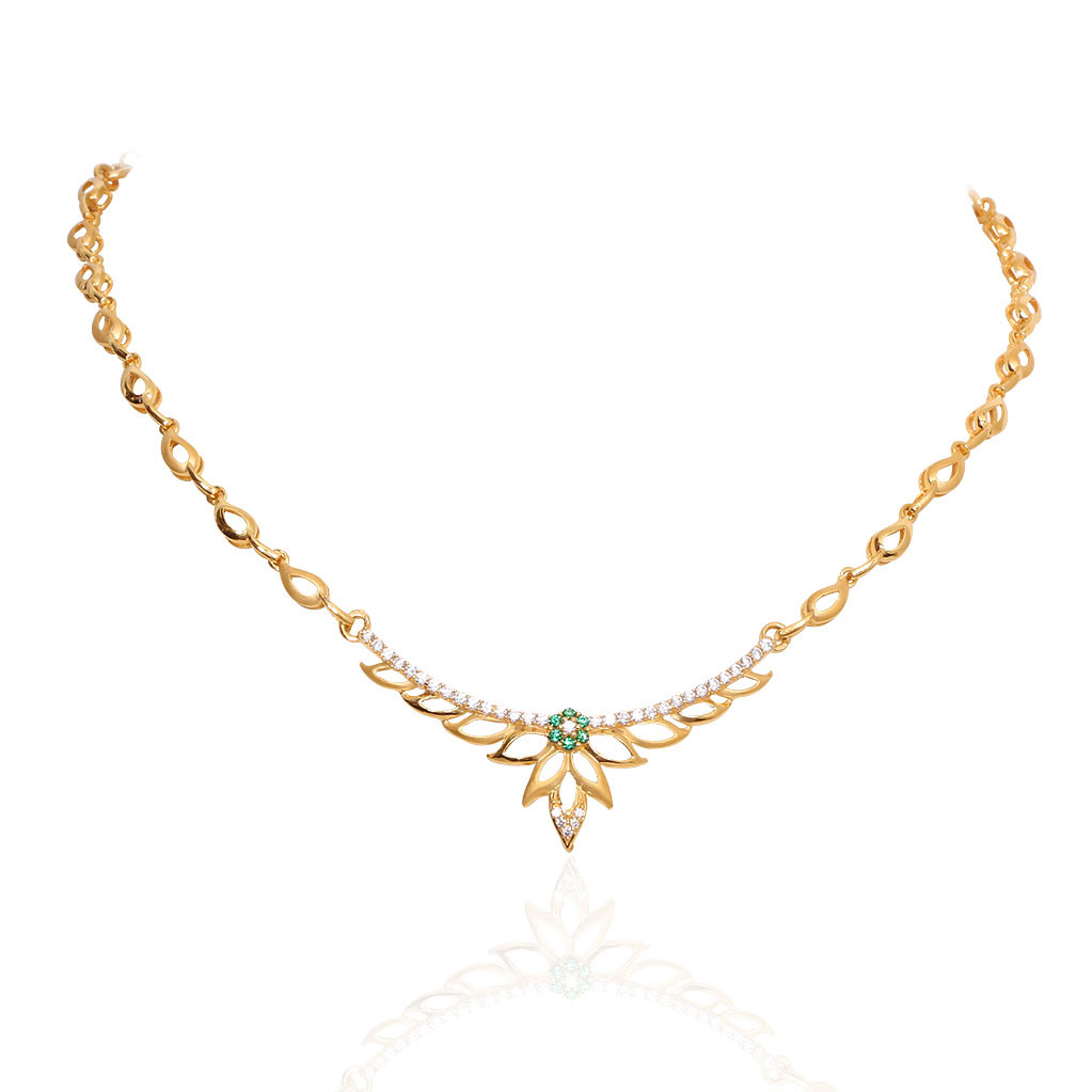 Oriana The Light Weight Jewellery Green Floral Slim