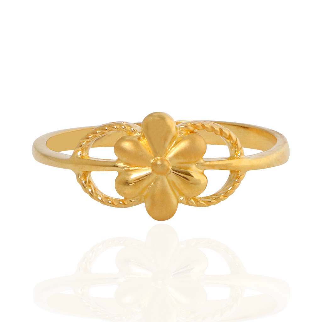 The Alainna Floral Gold Ring