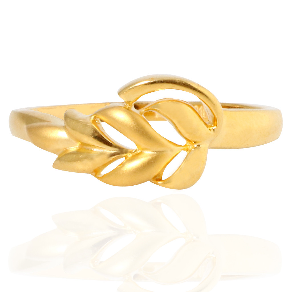 The Leslie leaves Gold Ring