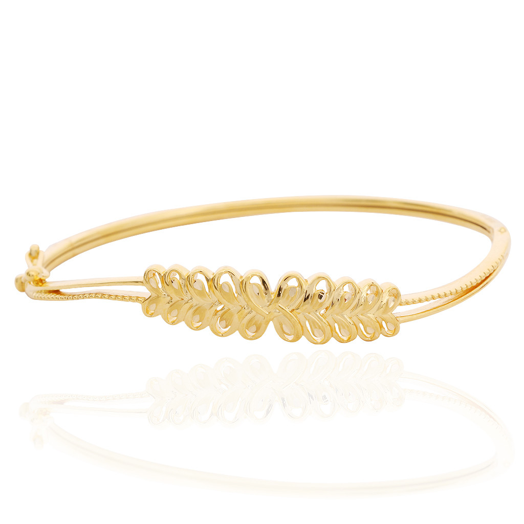 oriana the light weight jewellery twisted floral gold