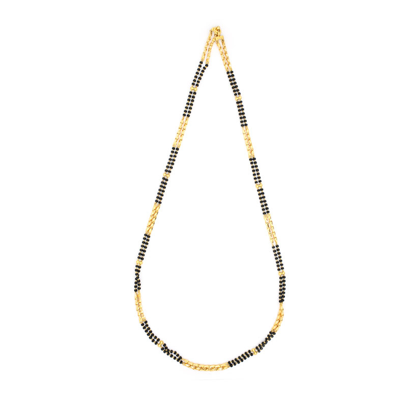 Two Strand Black Beads Madigani Chain