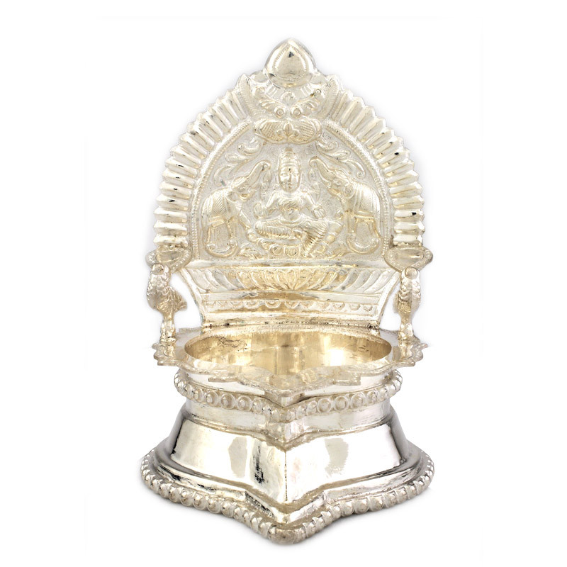 Traditional South Indian kamatchi Amman oil lamp