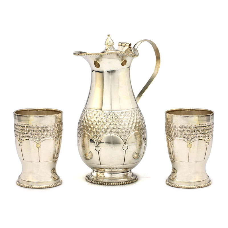 Natural Silver Finish Jug Set