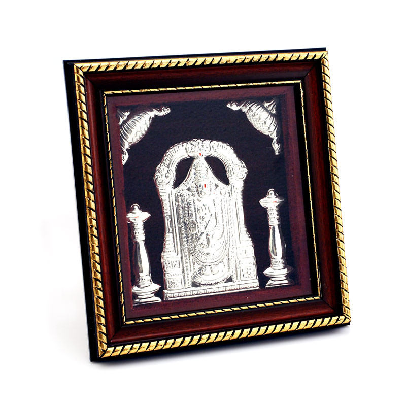 Beautiful framed silver Balaji Photo