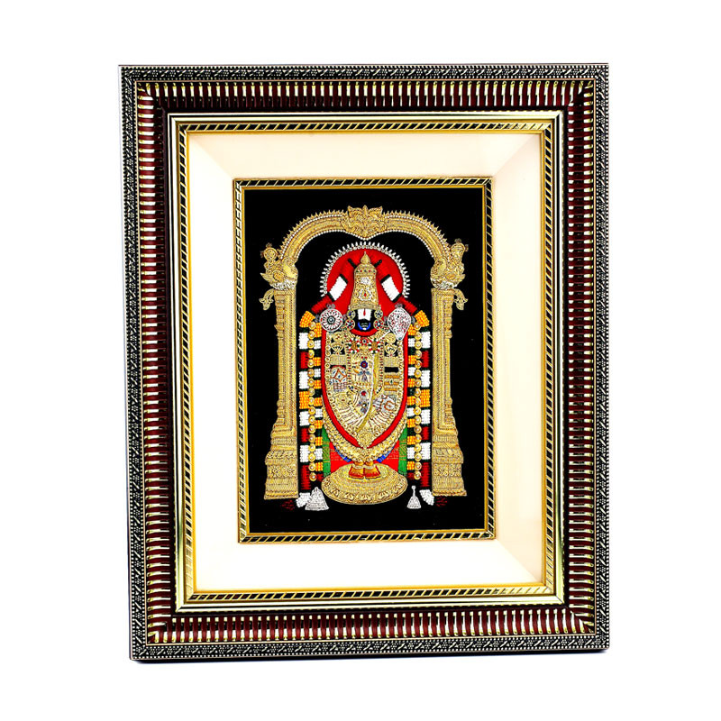 Beads and Embroidery Work Balaji Photo Frames
