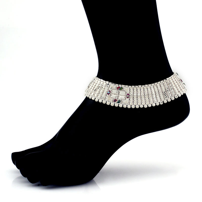 Egyptian Style Silver Anklet