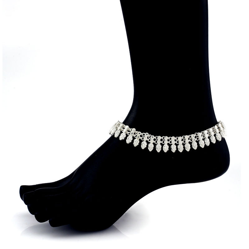 Traditionally Handmade Silver Golusu - Anklet
