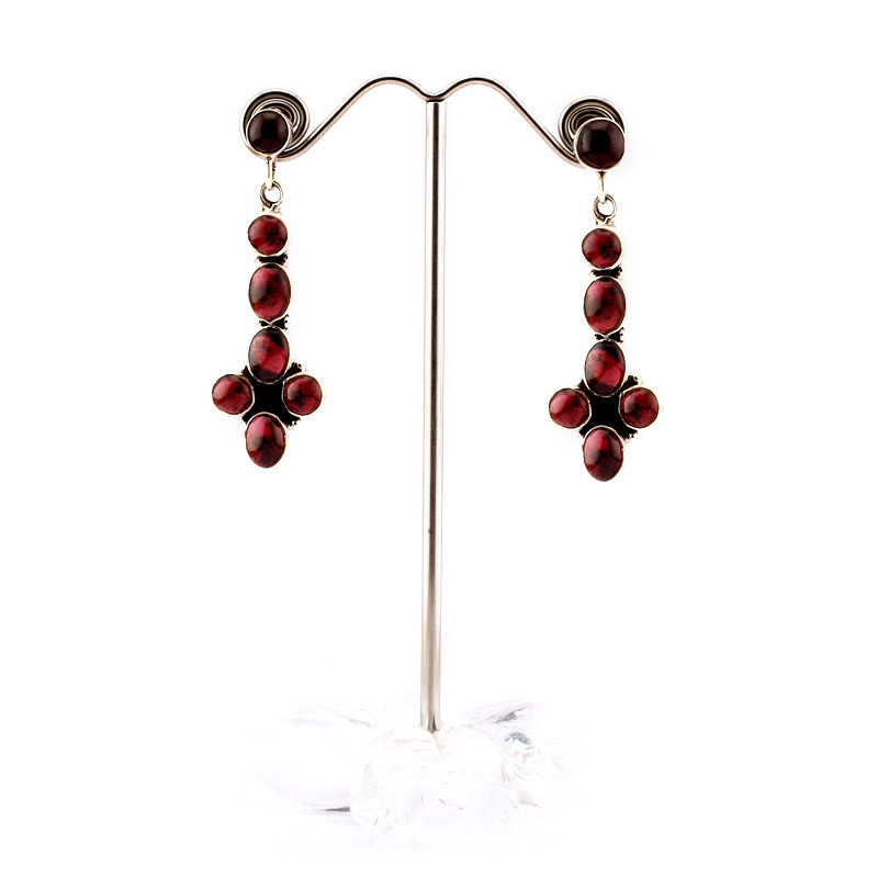 Indian Bloodstone Studded Hand Crafted Earrings