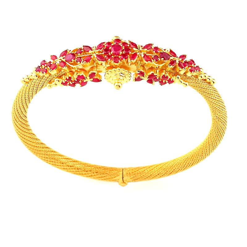 Traditionally Handmade Ruby Kada Bracelet