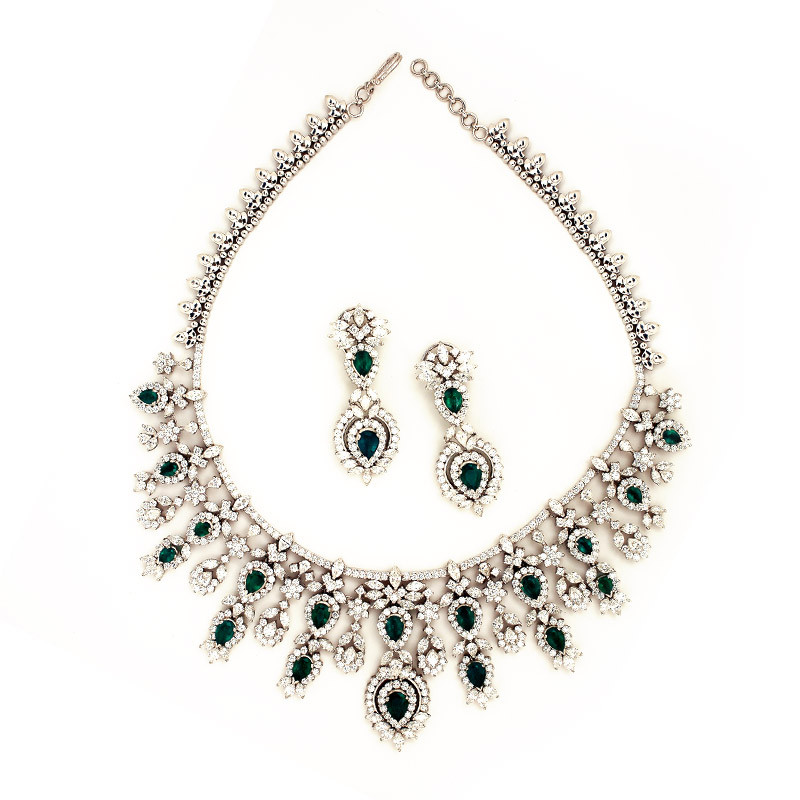 Her Royal Highness Victorian Style Diamond Necklace set