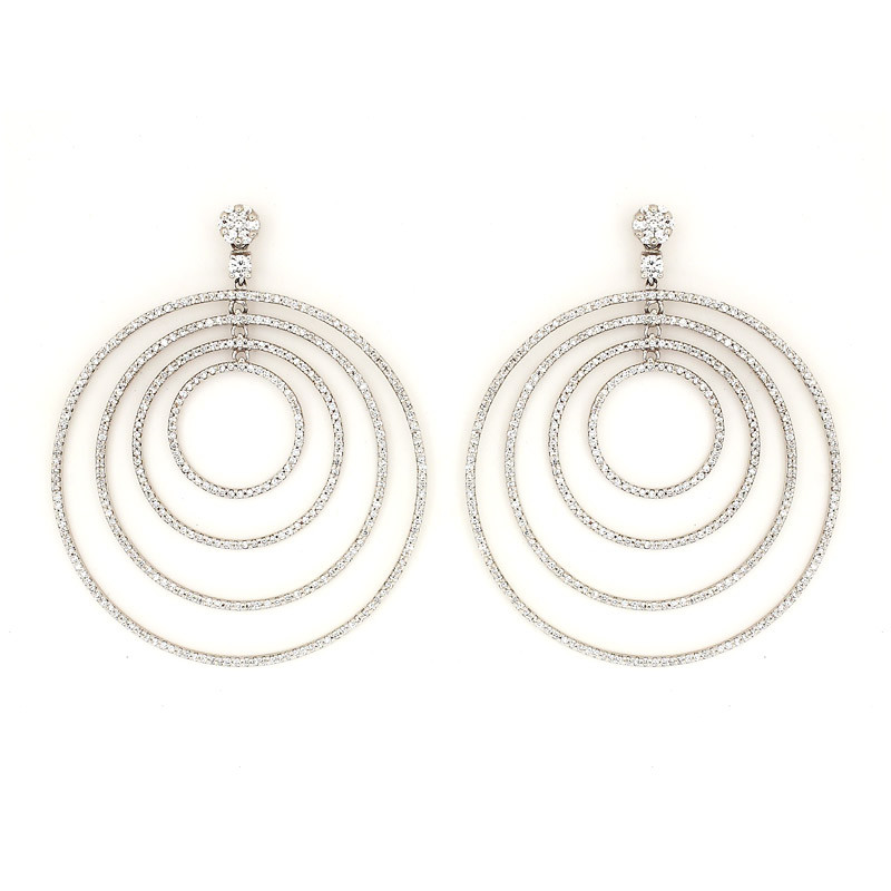 Close Four Rings Diamond Earrings