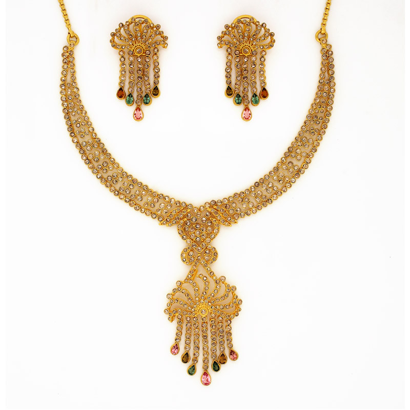 Polki Diamond Bridal Necklace set