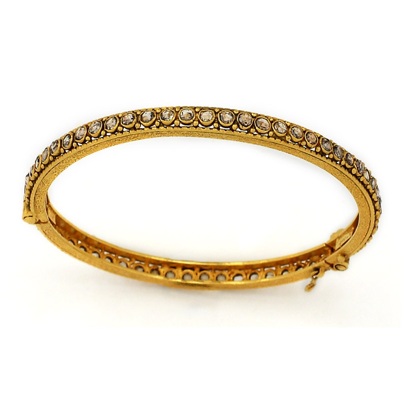 Vintage Style Uncut Diamond Bangle