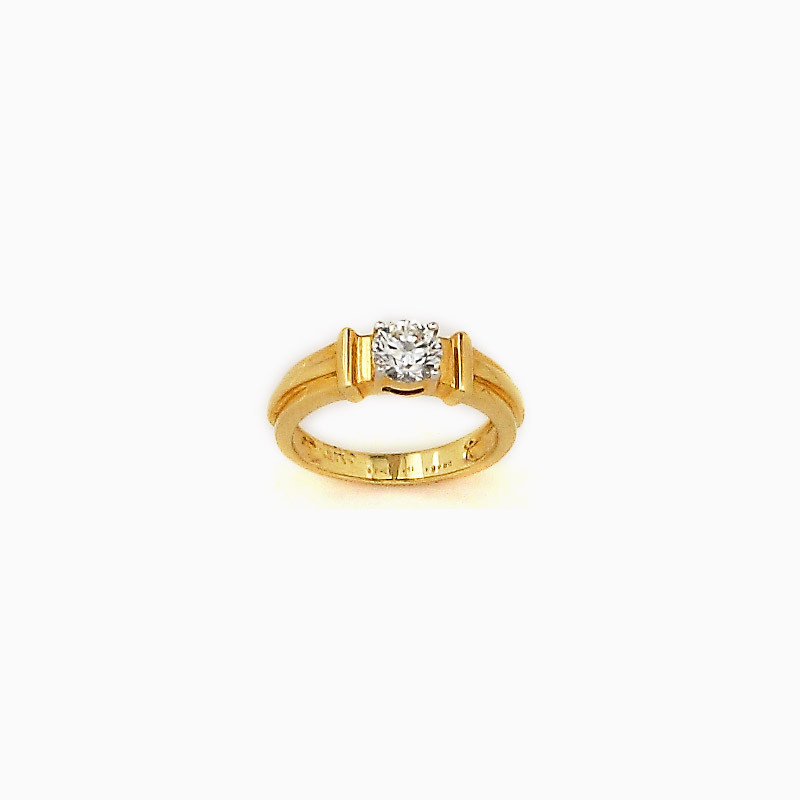 Round Cut Solitaire Diamond Engagement Ring