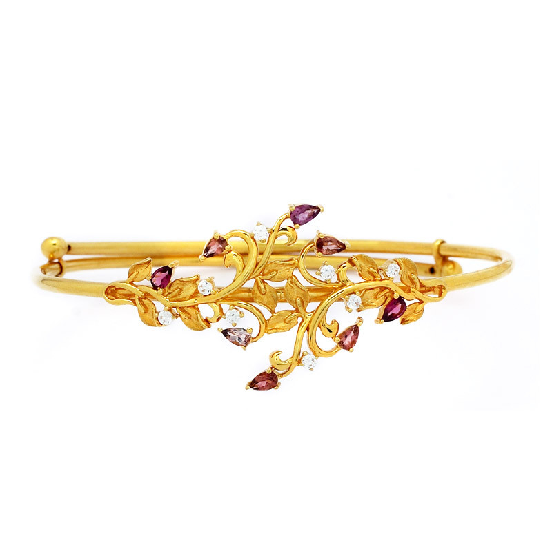 "Amethyst ""Leaves & Stems"" Armlet - Bajuband"