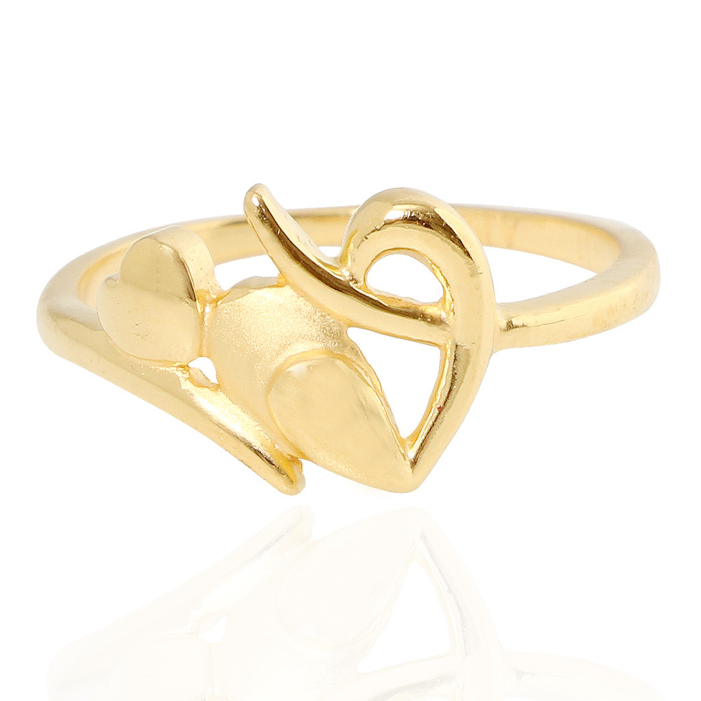 The Alka Heart Gold Ring