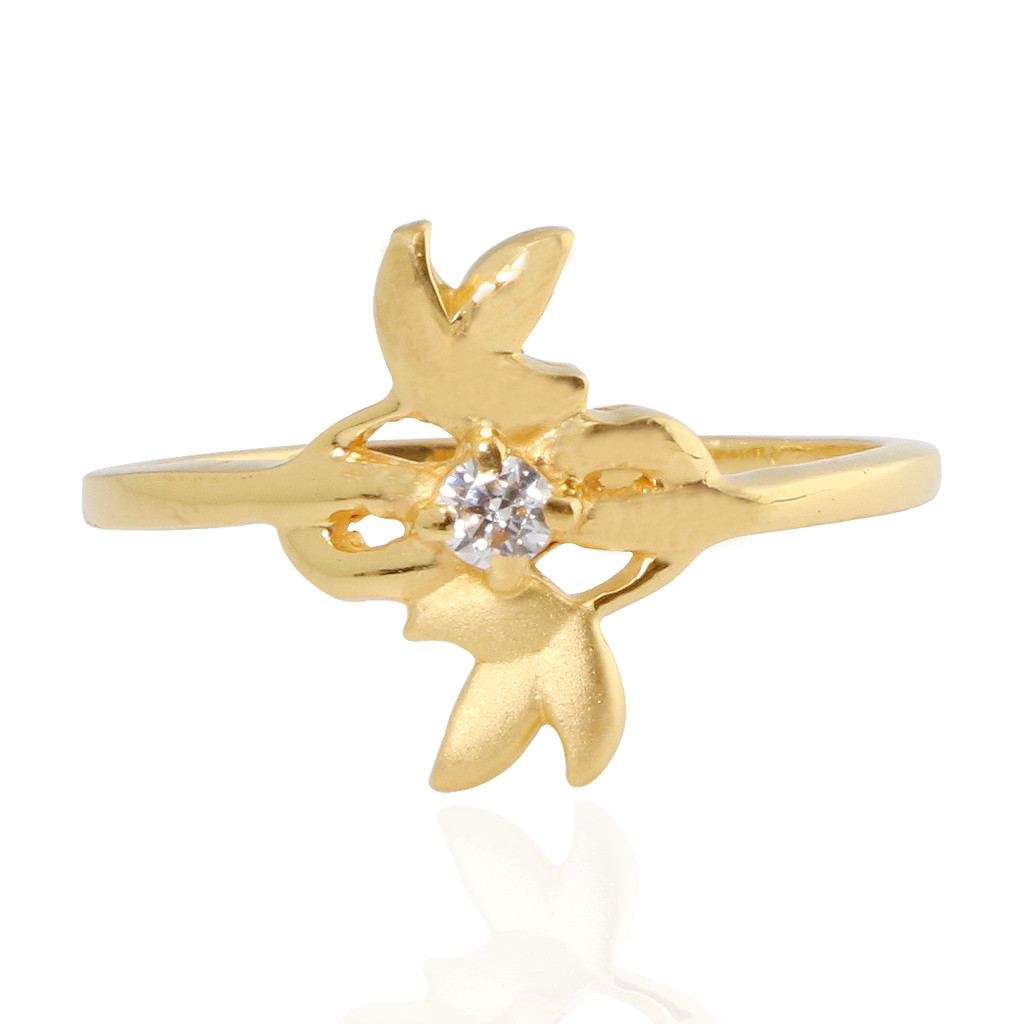 Olena Trio leaf Gold Ring