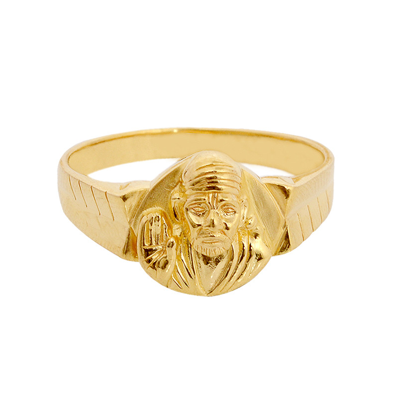 Lord Saibaba 22KT Gold Ring