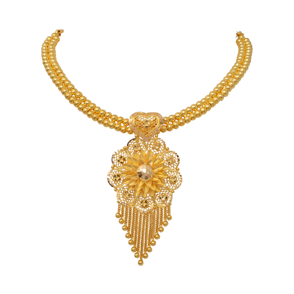 The Adorable Gerbera Gold Necklace
