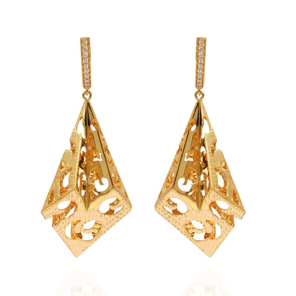 Classic Masruur Gold Earrings