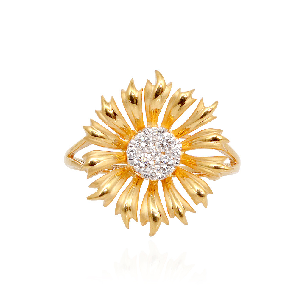 Rings Stylish Sunflower Diamond Ring Grt Jewellers